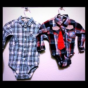 Other - Bundle button up shirt size 3/6 & 9 month